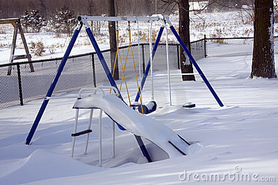 Winter Playground Swingset Equipment