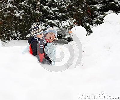 Winter playing