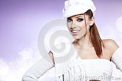 Winter  portrait of a beautiful women