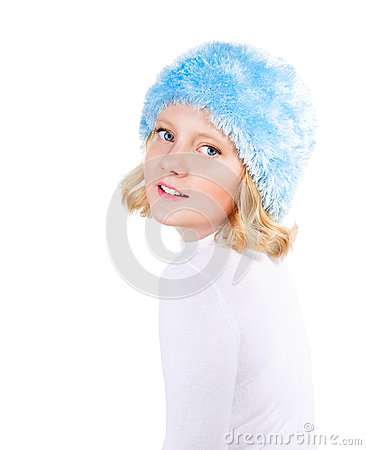 Free Winter Portrait Of Beautiful Preteen Girl Royalty Free Stock Images - 26706319