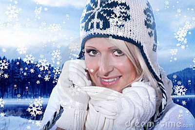 Winter portrait of a woman
