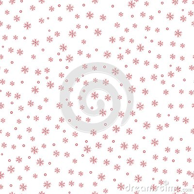 Winter red snow pattern background. vector illustratiom. Vector Illustration