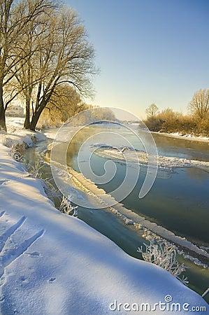Free Winter Riwer Stock Photography - 23240022