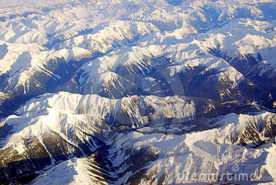 Winter rocky mountains