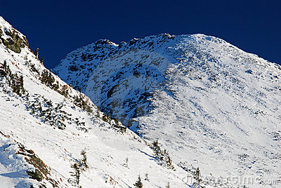 Winter in Romania mountains