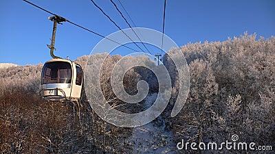 Winter rope-way