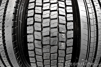 Winter rubber wheels with torns