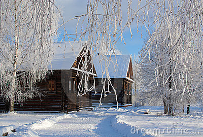 Winter russian country