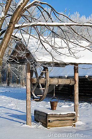 Winter, russian country mineshaft