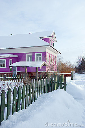 Free Winter Russian Village Royalty Free Stock Photography - 8061807