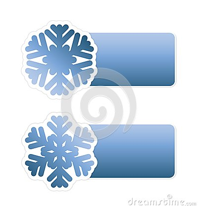 Winter sale labels with snowflake