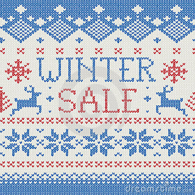 Winter Sale: Scandinavian knitted pattern