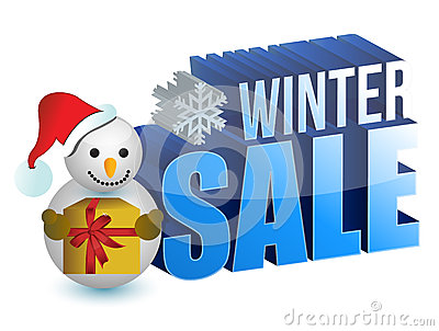 Winter sale snowman sign