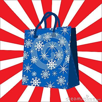 Winter sales shopping bag