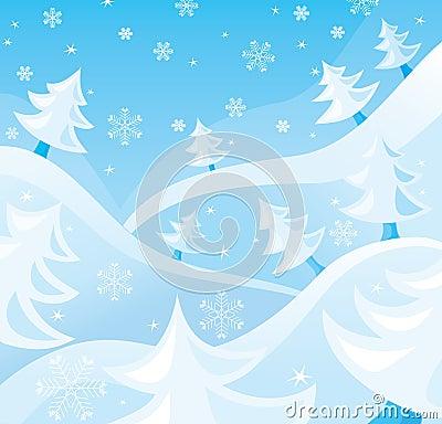 Free Winter Scene Royalty Free Stock Photo - 3595045