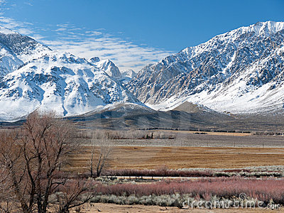 Winter scene in the Eastern Sierra Nevada Range