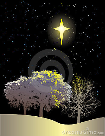Winter Scene and Northern Star