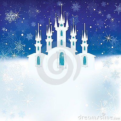 Free Winter Scene With The Ice Castle Royalty Free Stock Photo - 22350205