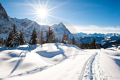 Winter scenery at Grindelwald