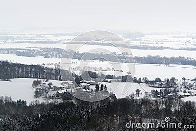 Winter scenery in Hohenlohe