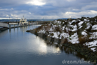 Winter scenic port townsend washington