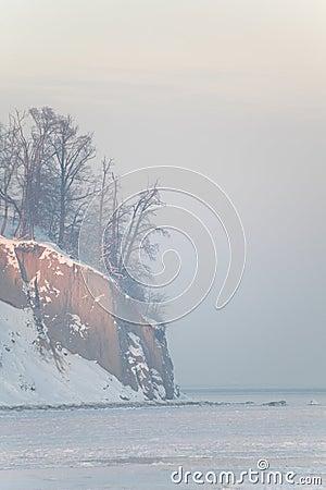 Winter sea - ice - floe.