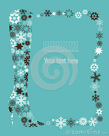Free Winter Shoe From Snowflakes. Royalty Free Stock Photo - 27202305