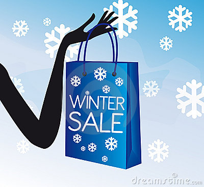 Winter shopping sale