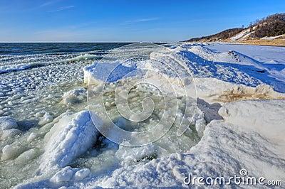 Winter Shoreline Lake Michigan