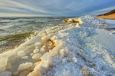 Winter Shoreline Lake Michigan