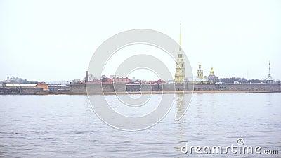Winter in Sint-Petersburg stock footage