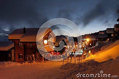 Winter ski resort in Switzerland