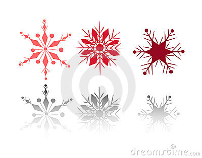 Winter snow flakes