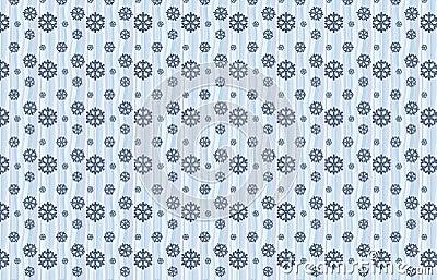 Winter snow pattern