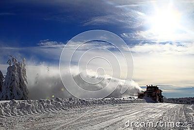 Winter : snow plow truck Stock Photo