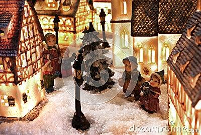 Winter snow town