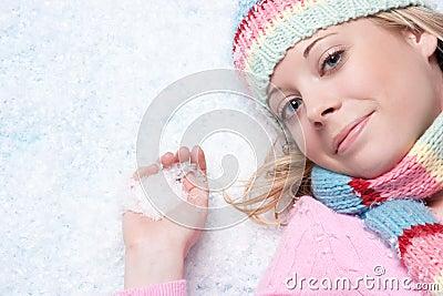 Winter Snow Woman