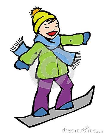 Winter snowboard