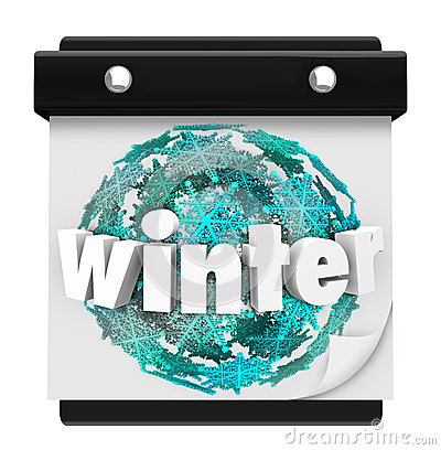 Winter Snowflake Background Calendar Page Start Season