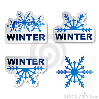 Winter snowflake promotional stickers