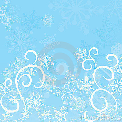 Free Winter Snowflakes Background, Vector Royalty Free Stock Images - 1301129
