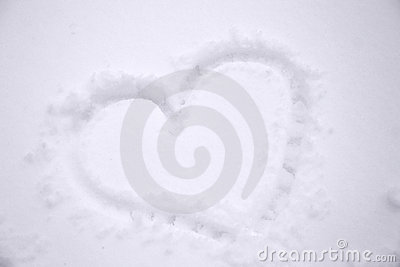 Winter snowheart