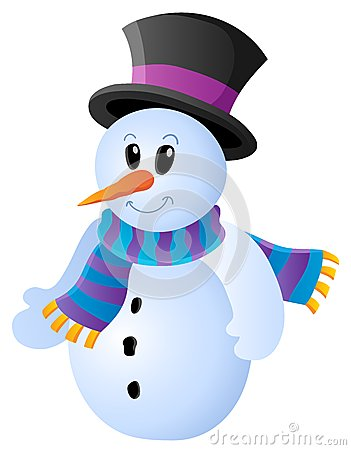 Winter snowman theme image 1