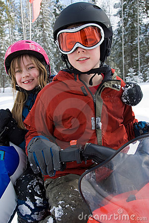 Winter Snowmobile