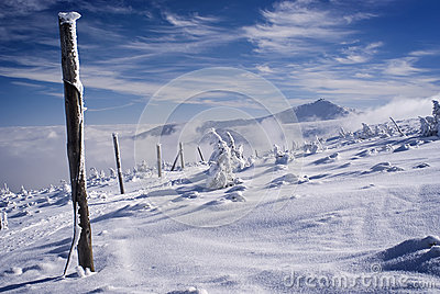 Winter snowy ridge