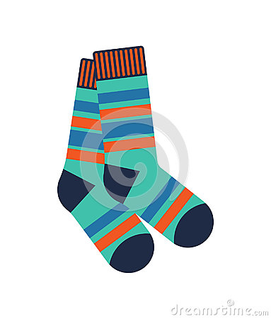 Free Winter Socks Isolated Vector Icon Stock Image - 97233971