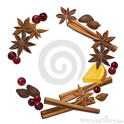Winter spice stock vector image 82274225 for Spiced cranberry sauce with orange and star anise