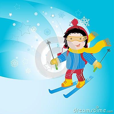 Free Winter Sports- Ski Royalty Free Stock Image - 7024596