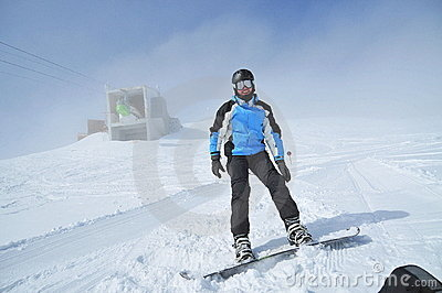 Winter sports (snowboarder portrait)