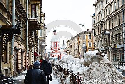 Winter St.Petersburg Editorial Stock Image